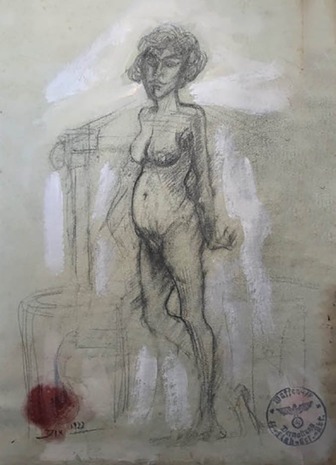 "Отто Дикс (Otto Dix) Drawing ""Untitled - 50"""