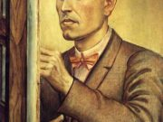 """Отто Дикс (Otto Dix) Drawing """"Self Portrait with Easel"""""""