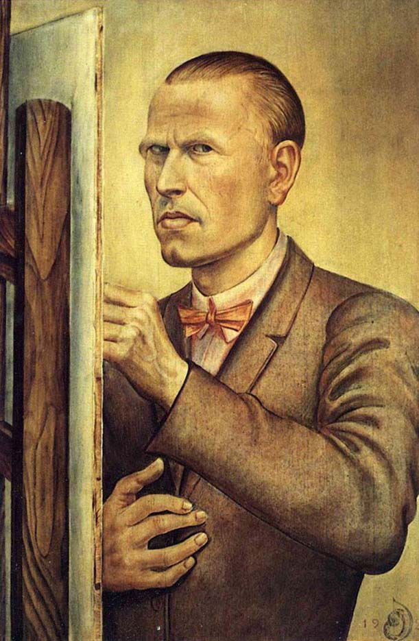 "Отто Дикс (Otto Dix) Drawing ""Self Portrait with Easel"""