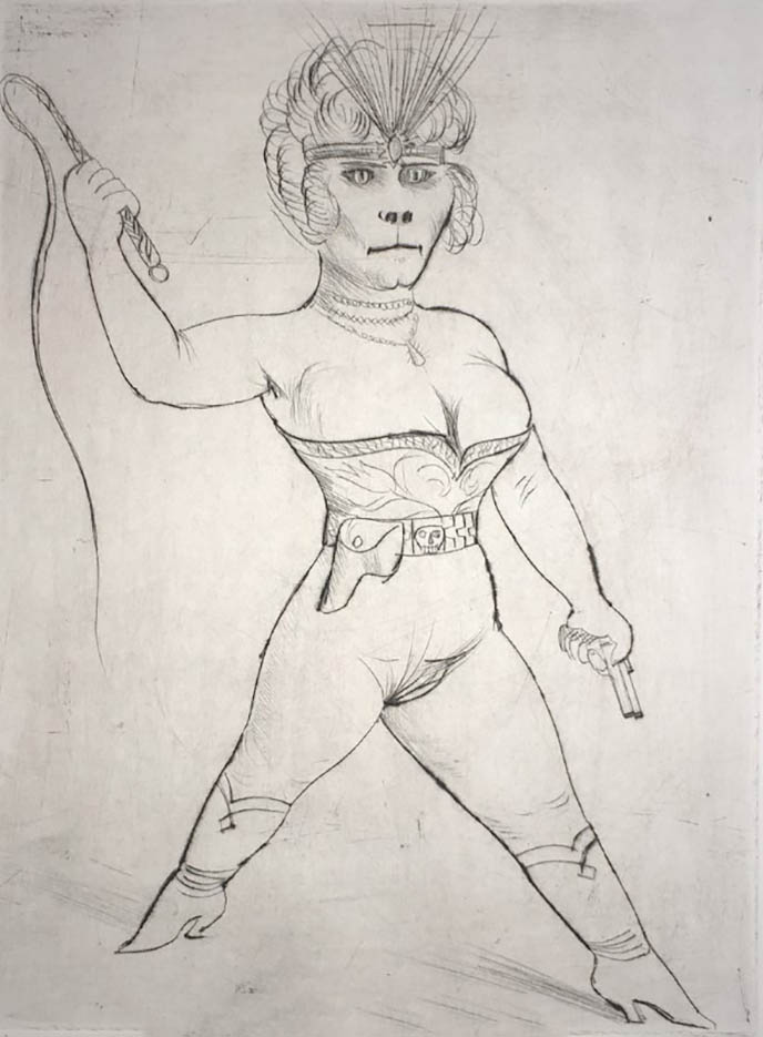 "Отто Дикс (Otto Dix) Drawing ""Dompteuse"""
