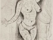 "Отто Дикс (Otto Dix) Drawing ""Maud Arizona (Suleika, The Tattooed wonder)"""