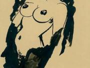 """Отто Дикс (Otto Dix) Drawing """"Halbakt"""""""