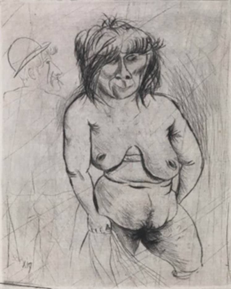 "Отто Дикс (Otto Dix) Drawing ""Vohse"""