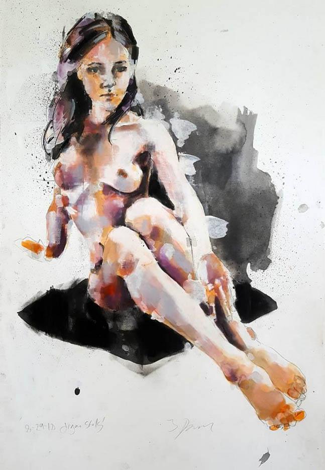 "Томас Дональдсон (Thomas Donaldson) ""Figure study 8-29-18"""