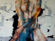 "Томас Дональдсон (Thomas Donaldson) ""Seated figure with blue leg 2-2-17"""