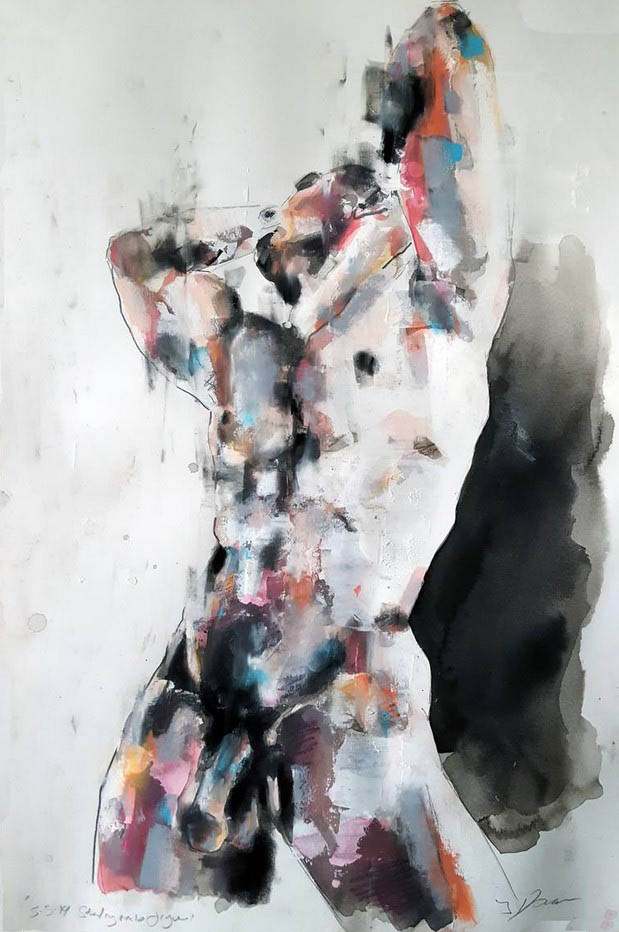 "Томас Дональдсон (Thomas Donaldson) ""Standing male figure 5-3-19"""