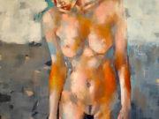 "Томас Дональдсон (Thomas Donaldson) ""Figure with orange 12-19-16"""