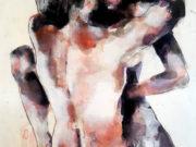 "Томас Дональдсон (Thomas Donaldson) ""Embrace (after Schiele) 5-5-16"""