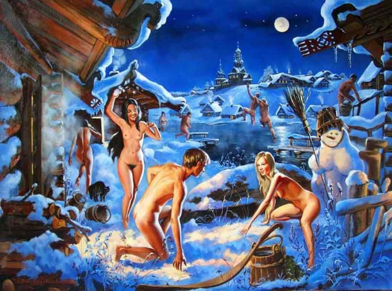"""Вера Донская-Хилько (Vera Donskaya-Khilko), """"Синее счастье, лунные ночи"""""""