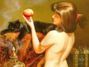 """Вера Донская-Хилько (Vera Donskaya-Khilko), """"Девушка с персиками"""""""