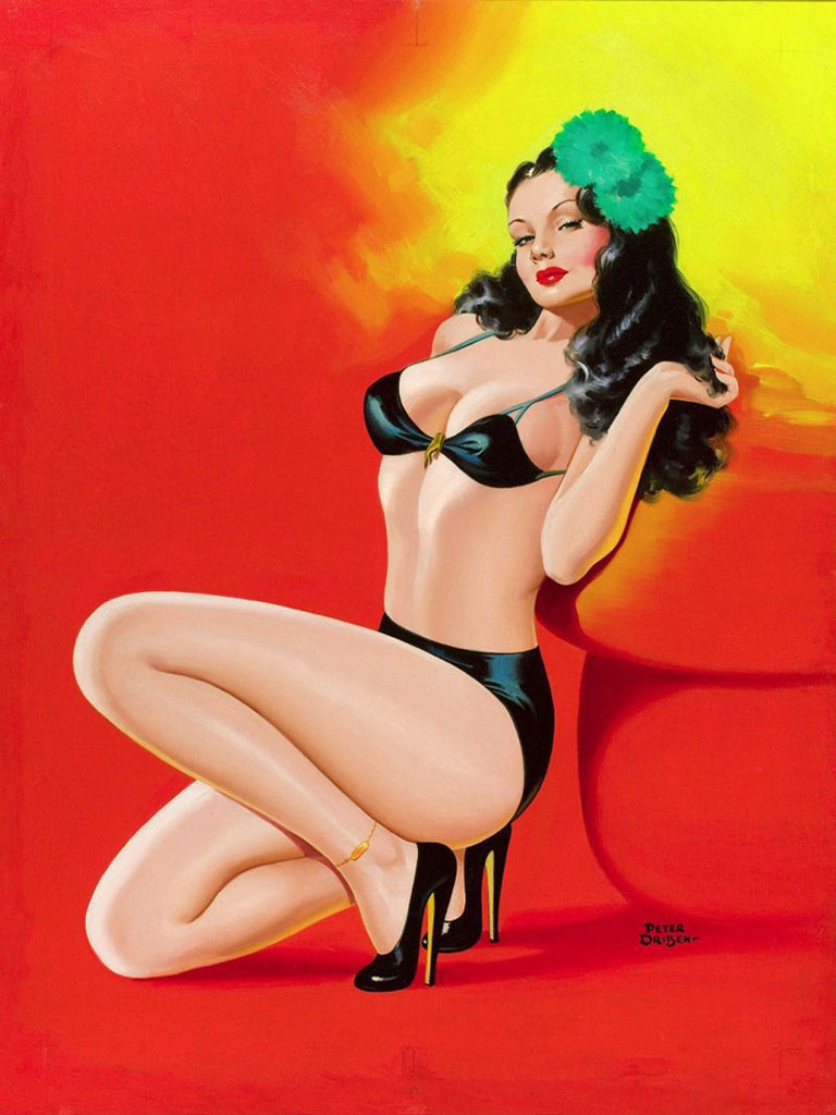 "Питер Дрибен (Peter Driben), ""Beauty parade pulp cover"""