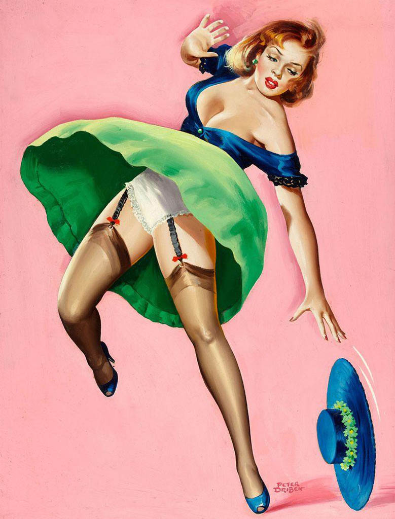 "Питер Дрибен (Peter Driben), ""Girl with dropped hat"""