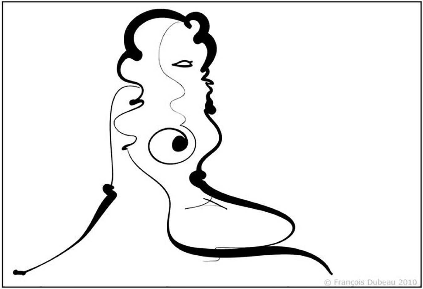 """Франсуа Дабо (Francois Dubeau), """"Calligraphique 5"""""""