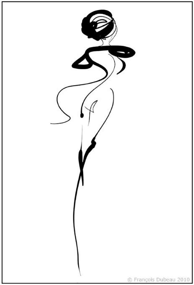 """Франсуа Дабо (Francois Dubeau), """"Calligraphique 6"""""""