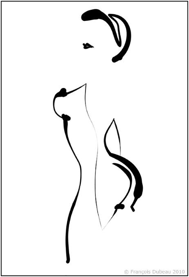 """Франсуа Дабо (Francois Dubeau), """"Calligraphique 7"""""""
