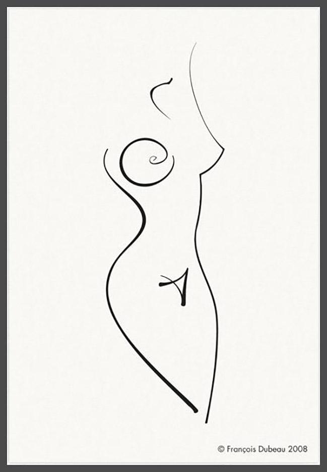 """Франсуа Дабо (Francois Dubeau), """"Calligraphique"""""""