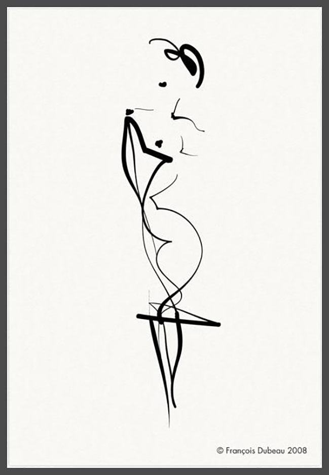"""Франсуа Дабо (Francois Dubeau), """"Calligraphique 4"""""""