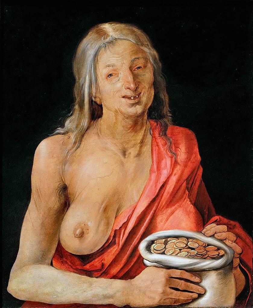 """Альбрехт Дюрер (Albrecht Durer), """"Старуха с мешочком монет"""""""
