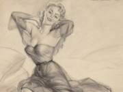 "Гарри Экман (Harry Ekman) ""Seated Pin-Up"""
