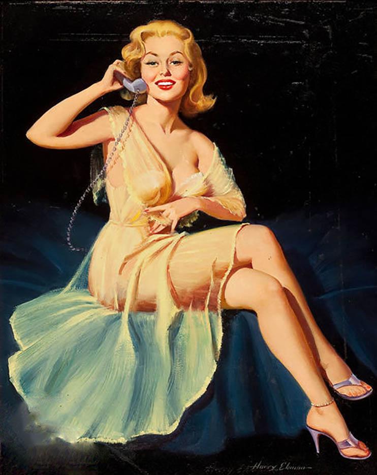 """Гарри Экман (Harry Ekman) """"Pin-up on the telephone"""""""