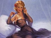 "Гарри Экман (Harry Ekman) ""Blonde with Purple Negligee"""