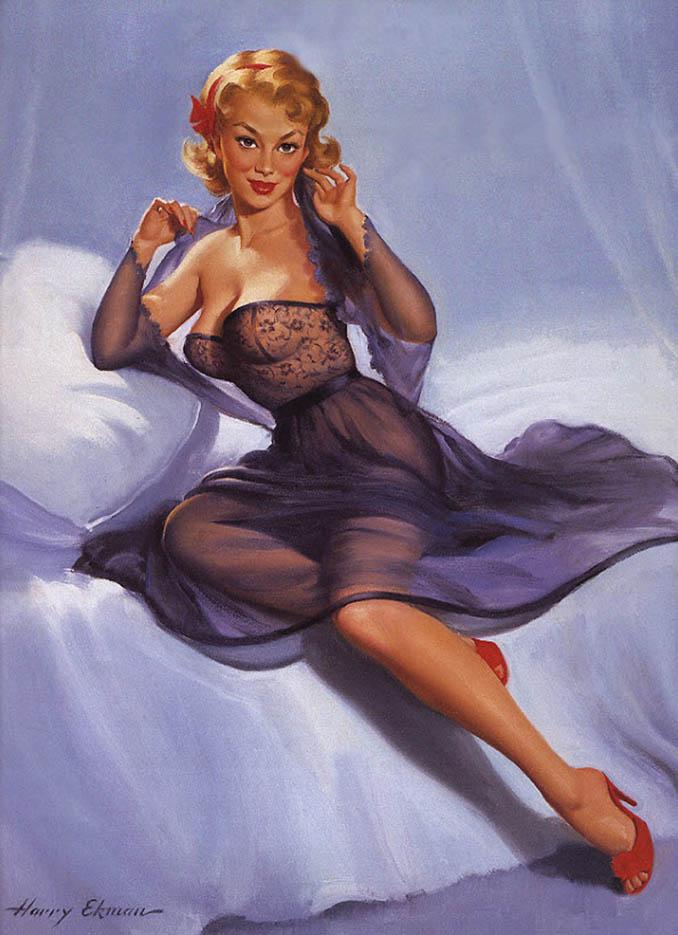 """Гарри Экман (Harry Ekman) """"Blonde with Purple Negligee"""""""