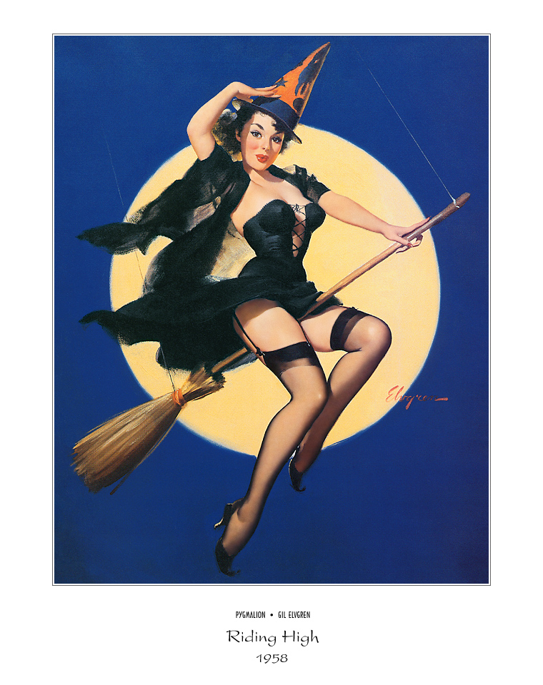 Джил Элвгрен (Gil Elvgren) (Part 1), Riding High