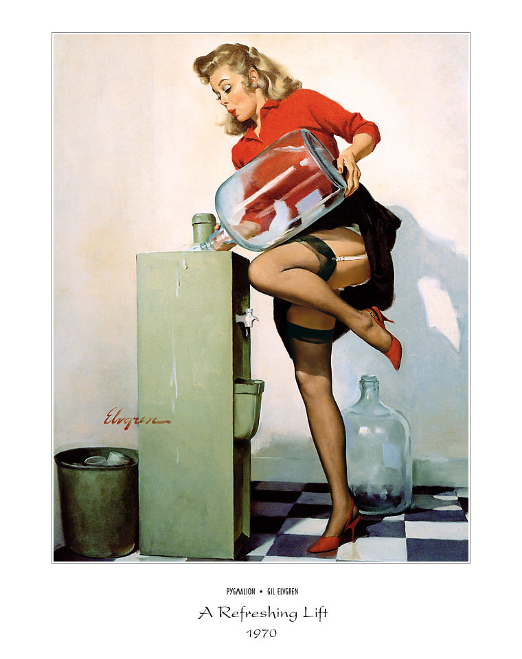 Джил Элвгрен (Gil Elvgren) (Part 1), A Refreshing Lift