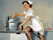 Джил Элвгрен (Gil Elvgren) (Part 1), Now Don't Ask Me Whats Cookin