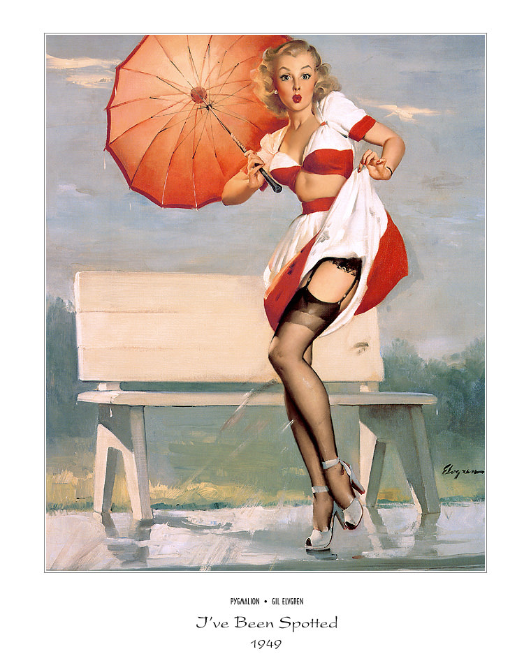 Джил Элвгрен (Gil Elvgren) (Part 1), I've Been Spotted