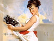 Джил Элвгрен (Gil Elvgren) (Part 1), Lets Eat Out