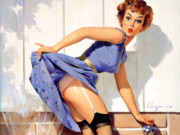 Джил Элвгрен (Gil Elvgren) (Part 1), A Near Miss