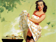 Джил Элвгрен (Gil Elvgren) (Part 1), Smoke Screen
