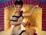 Джил Элвгрен (Gil Elvgren) (Part 1), A Warm Welcome