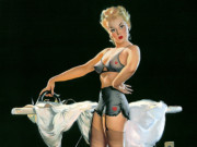 Джил Элвгрен (Gil Elvgren) (Part 1), He Kept Pressing Me for Details