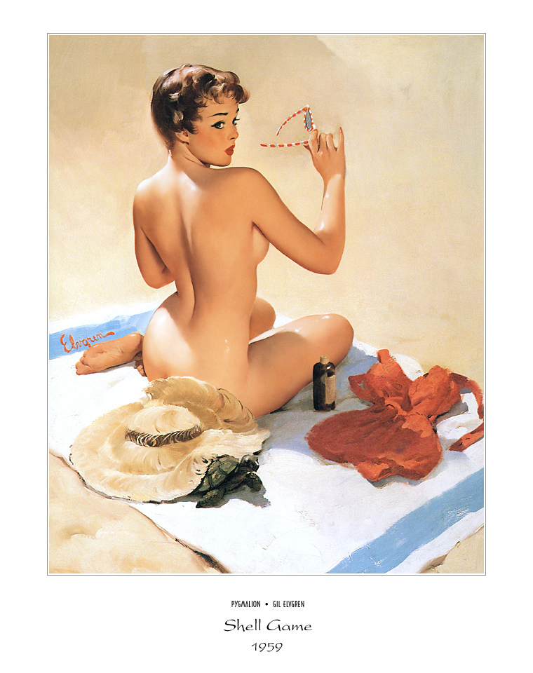 Джил Элвгрен (Gil Elvgren) (Part 1), Shell Game
