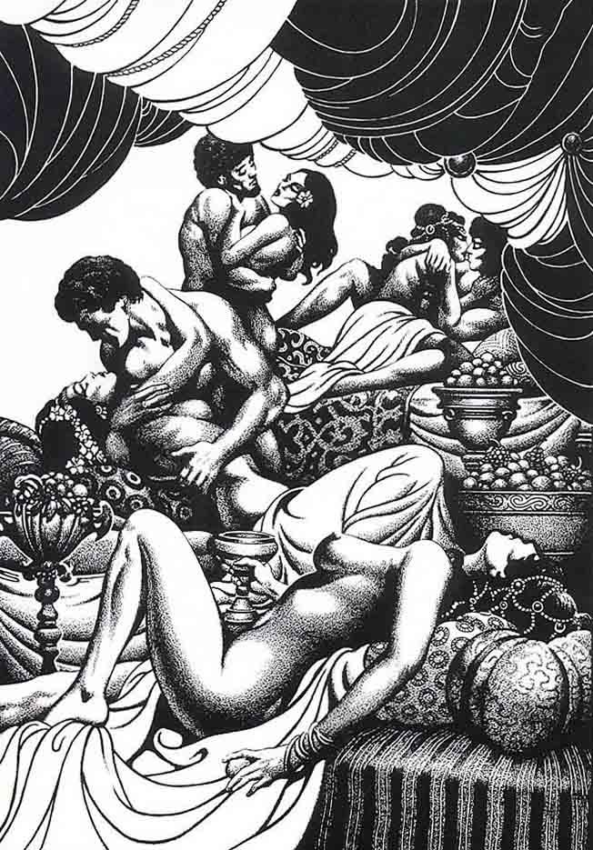 "Стивен Эмиль Фабиан (Stephen Fabian), ""Эротический рисунок - 21"""