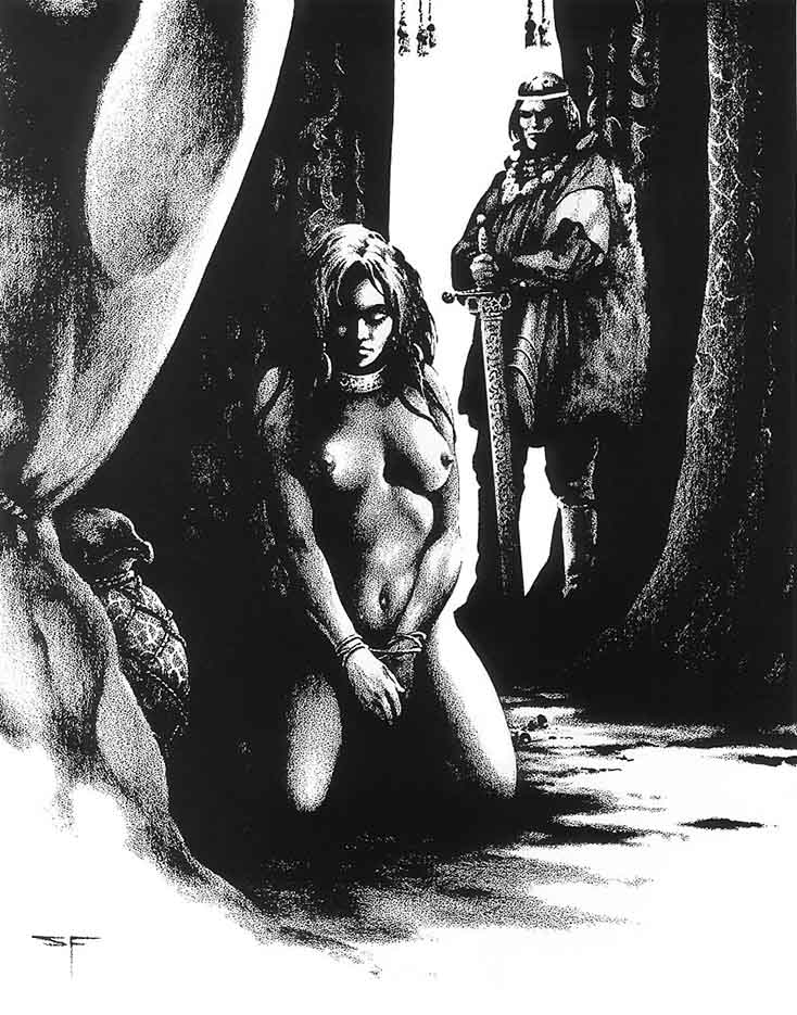 "Стивен Эмиль Фабиан (Stephen Fabian), ""Эротический рисунок - 29"""