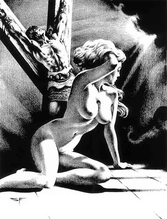 "Стивен Эмиль Фабиан (Stephen Fabian), ""Эротический рисунок - 42"""