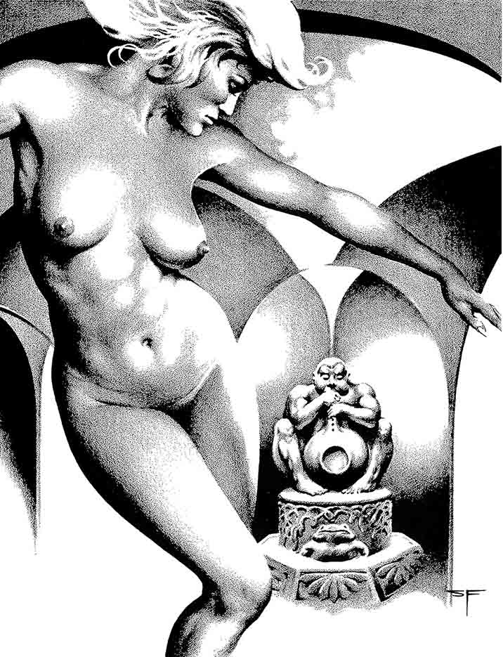"Стивен Эмиль Фабиан (Stephen Fabian), ""Эротический рисунок - 62"""