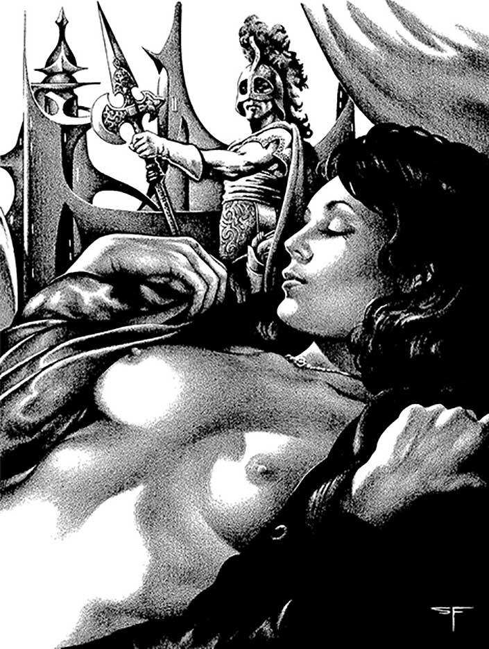"Стивен Эмиль Фабиан (Stephen Fabian), ""Эротический рисунок - 66"""