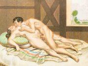 """Петер Фенди (Peter Fendi) """"Erotic scene"""""""