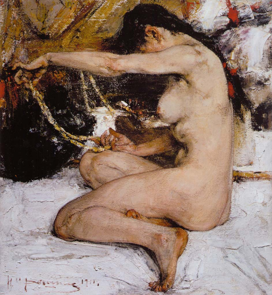 Николай Фешин (Nikolay Feshin), Ню (1911)