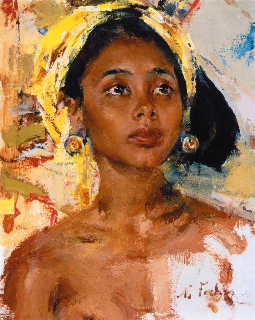 Николай Фешин (Nikolay Feshin), Девочка с острова Бали