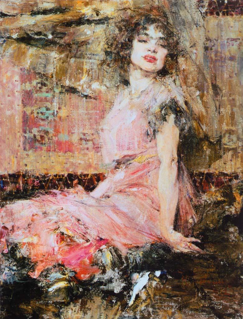 Николай Фешин (Nikolay Feshin), Дама в розовом