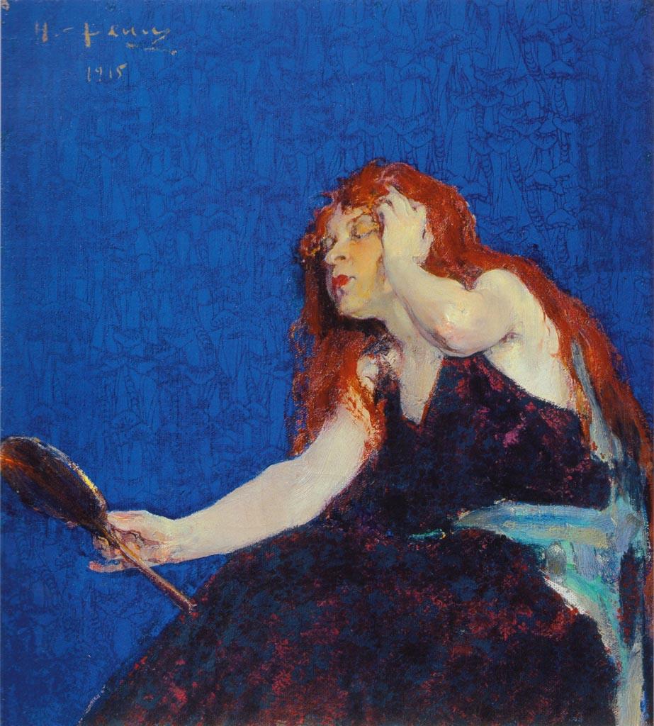 Николай Фешин (Nikolay Feshin), Женщина с зеркалом