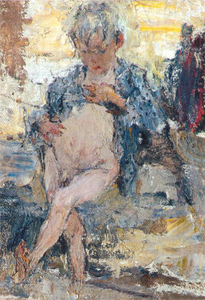Николай Фешин (Nikolay Feshin), Мальчик с голым животом. Этюд к картине Обливание