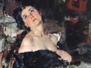 Николай Фешин (Nikolay Feshin), Дама в черном (Портрет А.Н.Фешиной)