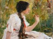 Николай Фешин (Nikolay Feshin), Весна в степи (Портрет А.Н.Фешиной)
