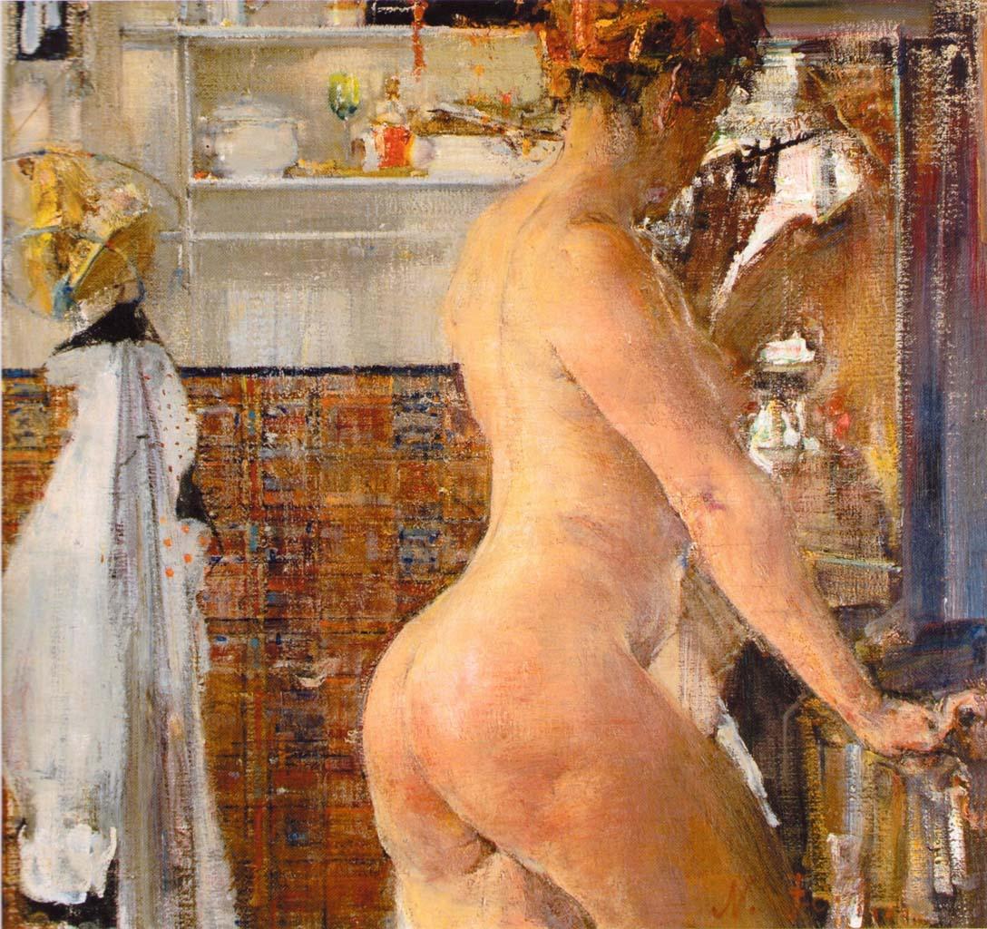 Николай Фешин (Nikolay Feshin), Обнаженная в ванной комнате